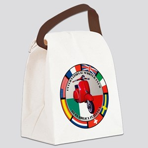 italy-RED-scoot Canvas Lunch Bag