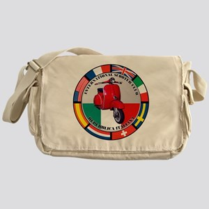 italy-RED-scoot Messenger Bag
