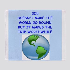 GIN Throw Blanket
