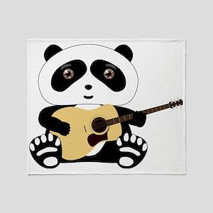 panda-guitar Throw Blanket
