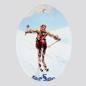 WINTER_SPORTS Oval Ornament