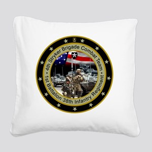 stryker-1bn-38th-inf-reg Square Canvas Pillow