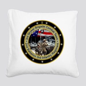 stryker-2bn-3rd-inf-reg Square Canvas Pillow