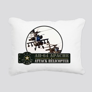 ah-64-apache Rectangular Canvas Pillow