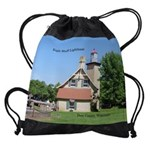 Eagle Bluff Lighthouse Drawstring Bag
