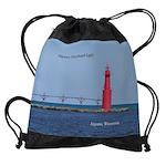 Algoma Pierhead Light Drawstring Bag