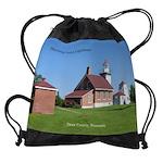 Sherwood Point Lighthouse Drawstring Bag