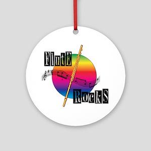 21064936-flute-rocks Round Ornament