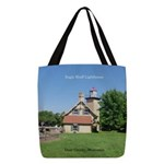 Eagle Bluff Lighthouse Polyester Tote Bag