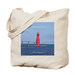 Algoma Pierhead Light Tote Bag