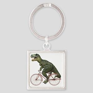 blank-rex Square Keychain
