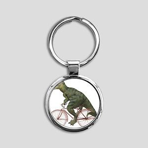 blank-rex Round Keychain