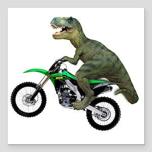 "Tyrannosaurus Rex On Mot Square Car Magnet 3"" x 3"""