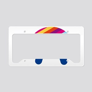 Happy Rainbow Turtle License Plate Holder