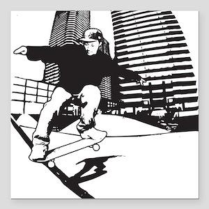 "Skateboarding Extreme Sp Square Car Magnet 3"" x 3"""