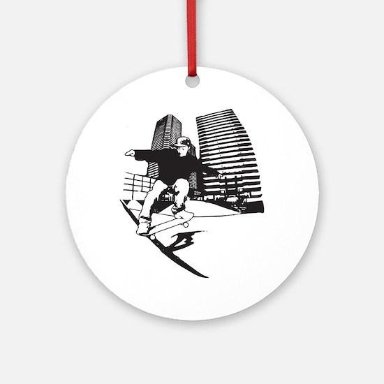 Skateboarding Extreme Sports Round Ornament