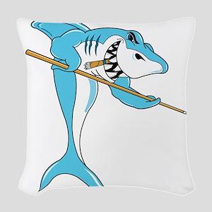 pool shark Woven Throw Pillow