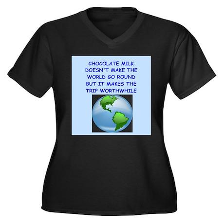 chocolate milk Plus Size T-Shirt