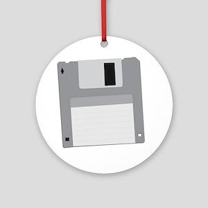 floppy disk diskette Round Ornament