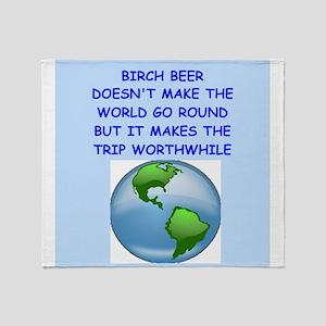 birch beer Throw Blanket