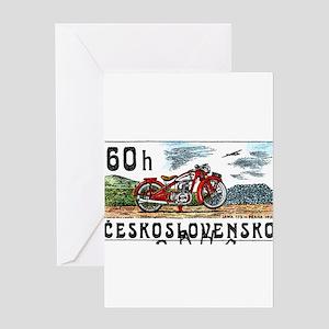 Jawa greeting cards cafepress 1975 czech jawa motorcycle postage stamp greeting m4hsunfo