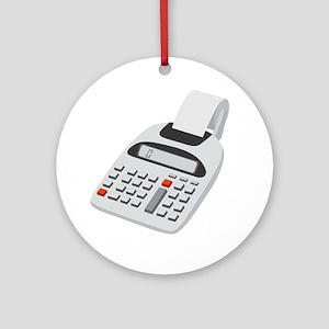 adding machine calculator Round Ornament