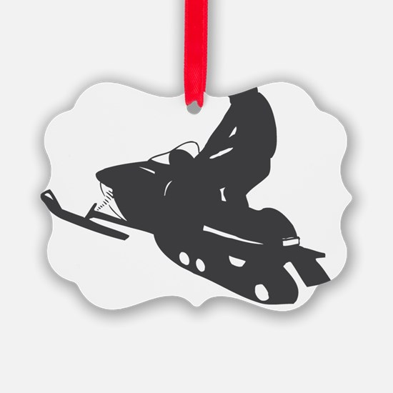 snow-mobile Ornament