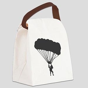 ski-diving Canvas Lunch Bag