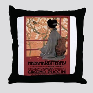 Madame Butterfly Puccini Throw Pillow