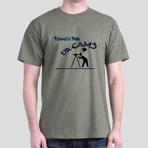 visualize your dreams blue telescope T-Shirt