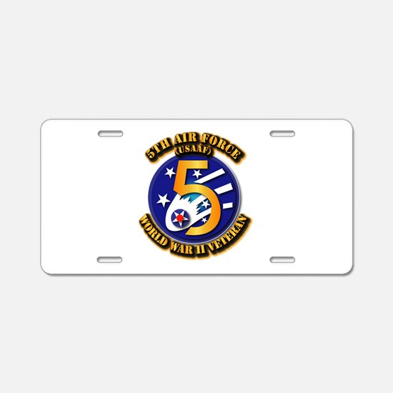 AAC - USAAF - 5th Air Force Aluminum License Plate