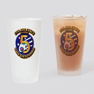 AAC - USAAF - 5th Air Force Drinking Glass