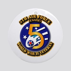 AAC - USAAF - 5th Air Force Ornament (Round)