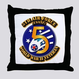 AAC - USAAF - 5th Air Force Throw Pillow