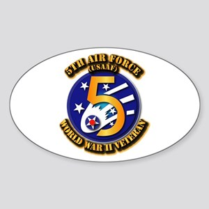 AAC - USAAF - 5th Air Force Sticker (Oval)