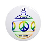 Peace Sign Christmas Ornament Ornament (Round)