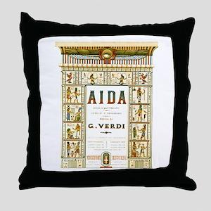 AIDA by G.Verdi Throw Pillow