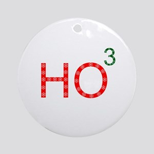 Ho To The Third Power Ornament (Round)