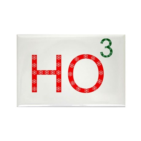 Ho To The Third Power Rectangle Magnet (10 pack)