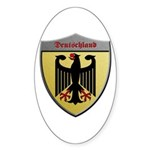 Germany Metallic Shield Sticker