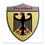 Germany Metallic Shield Square Car Magnet 3