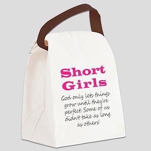 Short Girls Canvas Lunch Bag
