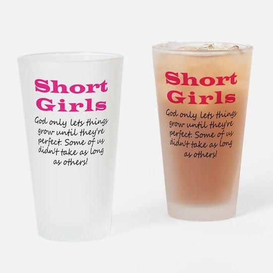 Short Girls Drinking Glass