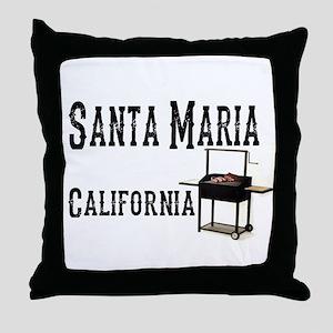 Santa Maria Style BBQ Throw Pillow