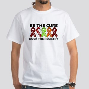 Be The Cure Ribbons Standard White T-Shirt
