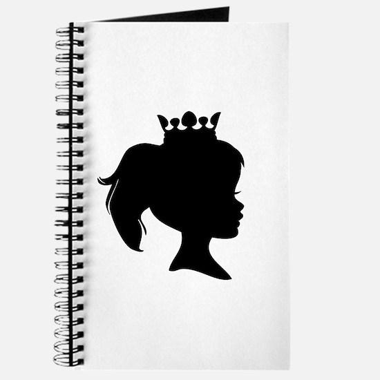 Black Silhouette Princess Journal