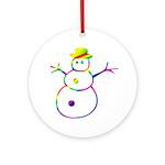 Really Cute Snowman Ornament (Round)