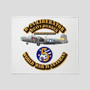 AAC - 22nd BG - 33rd BS - 5th AF Throw Blanket