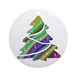Decorated Christmas Tree Ornament (Round)