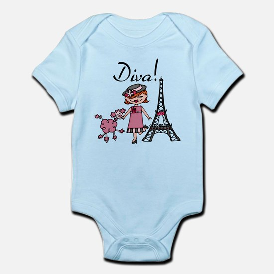 Red Haired Diva Infant Bodysuit